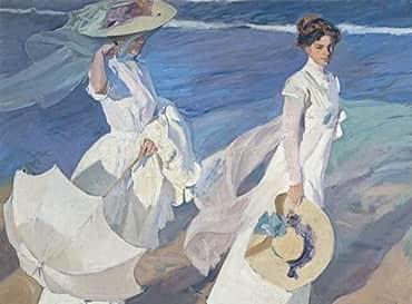 paseo a orillas del mar joaquin sorolla pintores valencianos